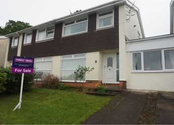 Thumbnail 3 bed semi-detached house for sale in Hawthorn Road, Treharris