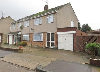 Thumbnail 3 bed semi-detached house to rent in Clarkebourne Drive, Grays