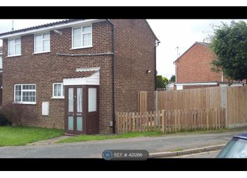 Thumbnail 3 bed end terrace house to rent in Dunsmore Road, Luton