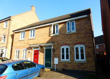 Thumbnail 3 bed end terrace house to rent in Fieldfare Close, Corby