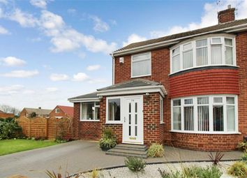 Thumbnail 4 bed semi-detached house for sale in Shaftesbury Crescent, North Shields