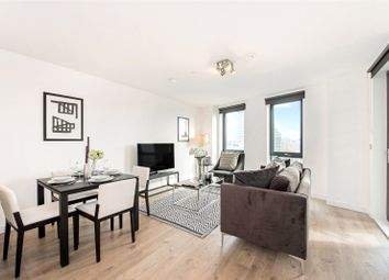 Thumbnail 1 bed flat to rent in Roosevelt Tower, 18 Williamsburg Plaza, London
