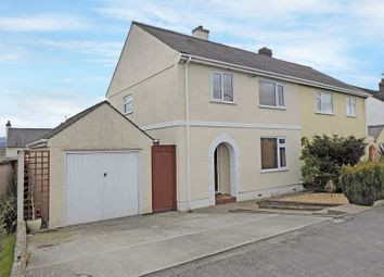 Thumbnail 3 bed semi-detached house for sale in Lon Ganol, Menai Bridge
