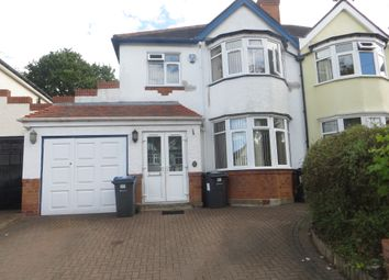 Thumbnail 3 bed semi-detached house to rent in Barton Lodge Road, Birmingham