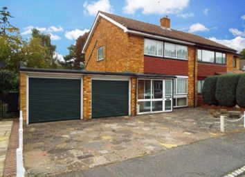 Thumbnail 3 bed semi-detached house for sale in Old Fox Close, Caterham, Surrey.
