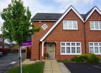 Thumbnail 3 bed semi-detached house for sale in Dunnington Close, Leicester