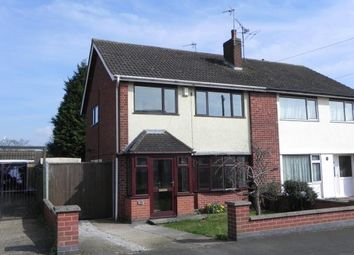 Thumbnail 3 bed semi-detached house for sale in Suffolk Close, Wigston, Leicestershire