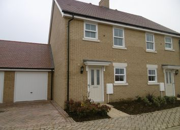 Thumbnail 3 bed semi-detached house to rent in Ellicott Grove, Biggleswade