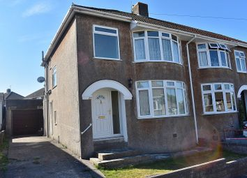 Thumbnail 3 bed semi-detached house for sale in Priory Avenue, Bridgend