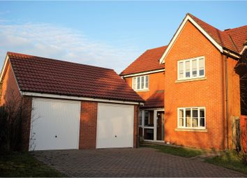Thumbnail 4 bedroom detached house for sale in Glasbury Walk, Swaffham
