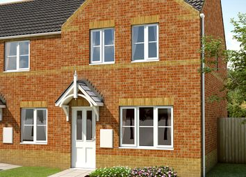 "Thumbnail 3 bed semi-detached house for sale in ""The Burnsall"" at Doncaster Road, Goldthorpe, Rotherham"