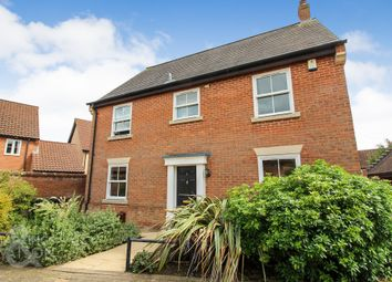 Thumbnail 4 bed detached house for sale in Hornbeam Drive, Poringland, Norwich