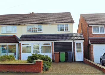 Thumbnail 3 bed semi-detached house to rent in Stonehurst Road, Birmingham