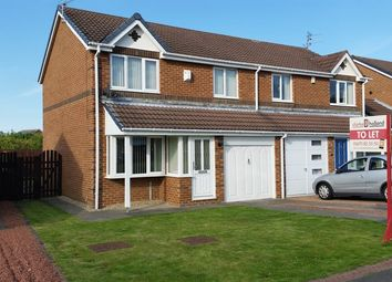 Thumbnail 3 bed semi-detached house to rent in Ploverfield Close, Ashington