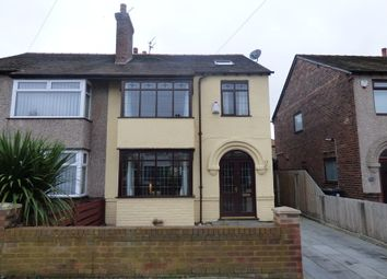 Thumbnail 4 bedroom semi-detached house for sale in Melrose Avenue, Crosby, Liverpool