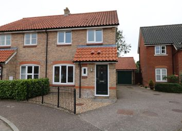 Thumbnail 3 bed semi-detached house to rent in Cornfields, Dickleburgh, Diss