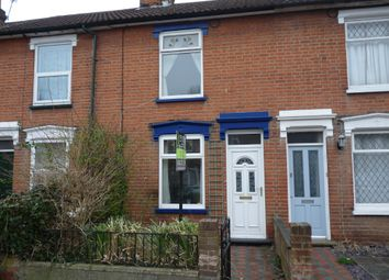 Thumbnail 2 bed terraced house to rent in Cemetery Road, Ipswich