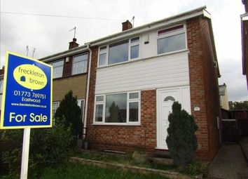 Thumbnail 3 bed semi-detached house for sale in Attewell Road, Awsworth, Nottingham