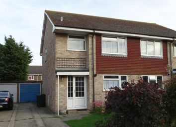 Thumbnail 3 bed semi-detached house for sale in Gainsborough Drive, Selsey, Chichester
