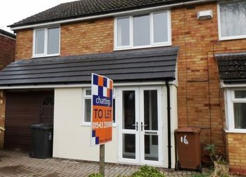 Thumbnail 3 bed property to rent in Garrick Road, Lichfield