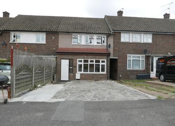 Thumbnail 3 bedroom terraced house to rent in Montgomery Crescent, Harold Wood