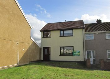 Thumbnail 3 bed end terrace house for sale in Fir Tree Close, Gurnos, Merthyr Tydfil