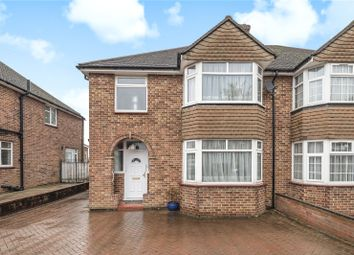 Thumbnail 3 bed semi-detached house for sale in Greystoke Avenue, Pinner, Middlesex