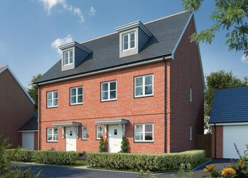 Thumbnail 3 bed semi-detached house for sale in Canalside View, Broughton, Aylesbury