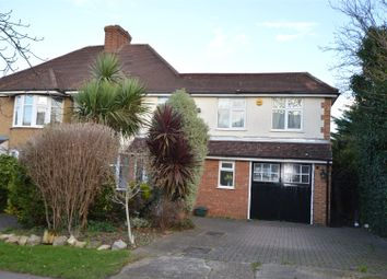 Thumbnail 4 bed semi-detached house for sale in Cuddington Avenue, Worcester Park