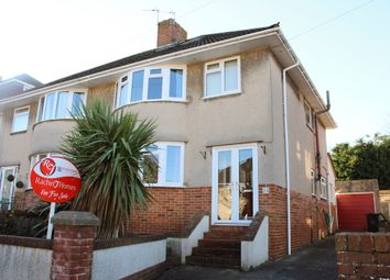 Thumbnail 4 bedroom semi-detached house for sale in Hillcroft Close, Worlebury, Weston Super Mare