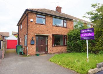 Thumbnail 3 bed semi-detached house for sale in Canberra Road, Stockport