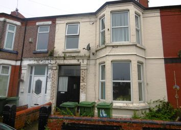 Thumbnail 4 bedroom terraced house for sale in Percy Road, Wallasey