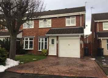 Thumbnail 3 bed semi-detached house for sale in Lowry Close, Perton, Wolverhampton
