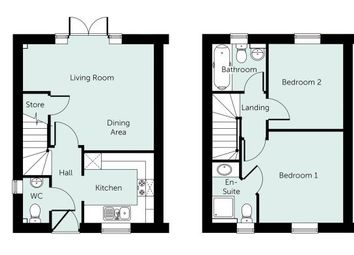 Thumbnail 2 bed semi-detached house for sale in Sibford Road, Hook Norton, Banbury, Oxfordshire