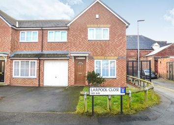 Thumbnail 3 bedroom semi-detached house for sale in Larpool Close, Hartlepool