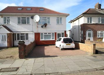 Thumbnail 4 bed semi-detached house for sale in Hugheden Gardens, Northolt, Middlesex