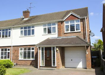 Thumbnail 5 bed semi-detached house for sale in Robert Close, Hersham, Walton-On-Thames
