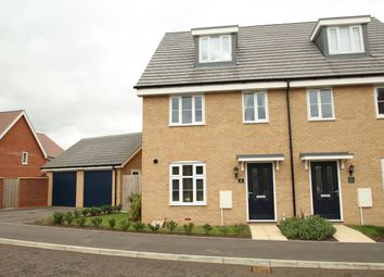 Thumbnail 3 bedroom town house for sale in Binyon Close, Stowmarket