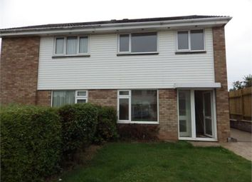 Thumbnail 3 bed semi-detached house to rent in Hollymount Close, Brixington, Exmouth