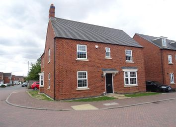 Thumbnail 4 bed detached house for sale in Cornfield Close, Ellistown, Leicestershire