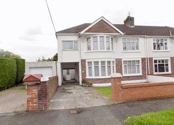 Thumbnail 6 bed semi-detached house for sale in Parcau Road, Bridgend, Bridgend.