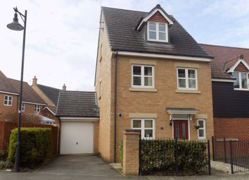 Thumbnail 4 bedroom end terrace house for sale in Egdon Close, Swindon