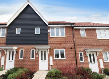 Thumbnail 3 bed terraced house for sale in Freesia Way, Cringleford, Norwich