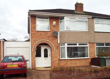 Thumbnail Semi-detached house for sale in Brinley Close, Bromborough, Wirral