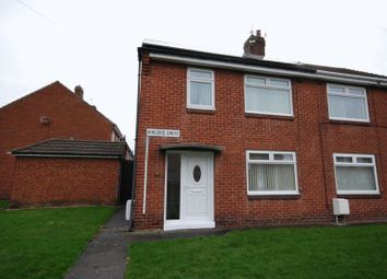 Thumbnail 3 Bed Semi Detached House For Sale In Kielder Drive Ashington