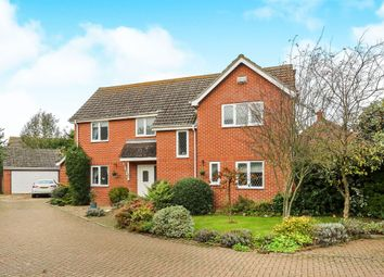 Thumbnail 4 bed detached house for sale in Mill Lane, Attleborough