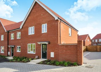 Thumbnail 3 bedroom end terrace house for sale in Shotesham Road, Poringland, Norwich
