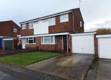 Thumbnail 3 bed semi-detached house for sale in Bevery Close, Oakley, Bedford, Bedfordshire