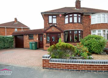 Thumbnail 3 bed semi-detached house for sale in Chislehurst Avenue, Leicester