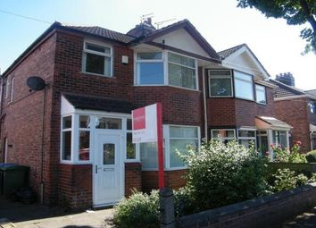 Thumbnail 3 bedroom property to rent in Wilton Avenue, Old Trafford, Manchester